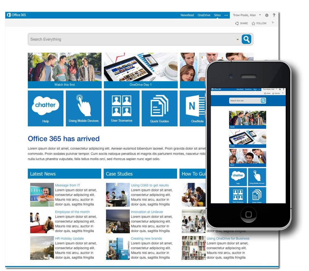 "Office365 ""off-premis"" (cloud) & ""on-premix"" (intranet)"