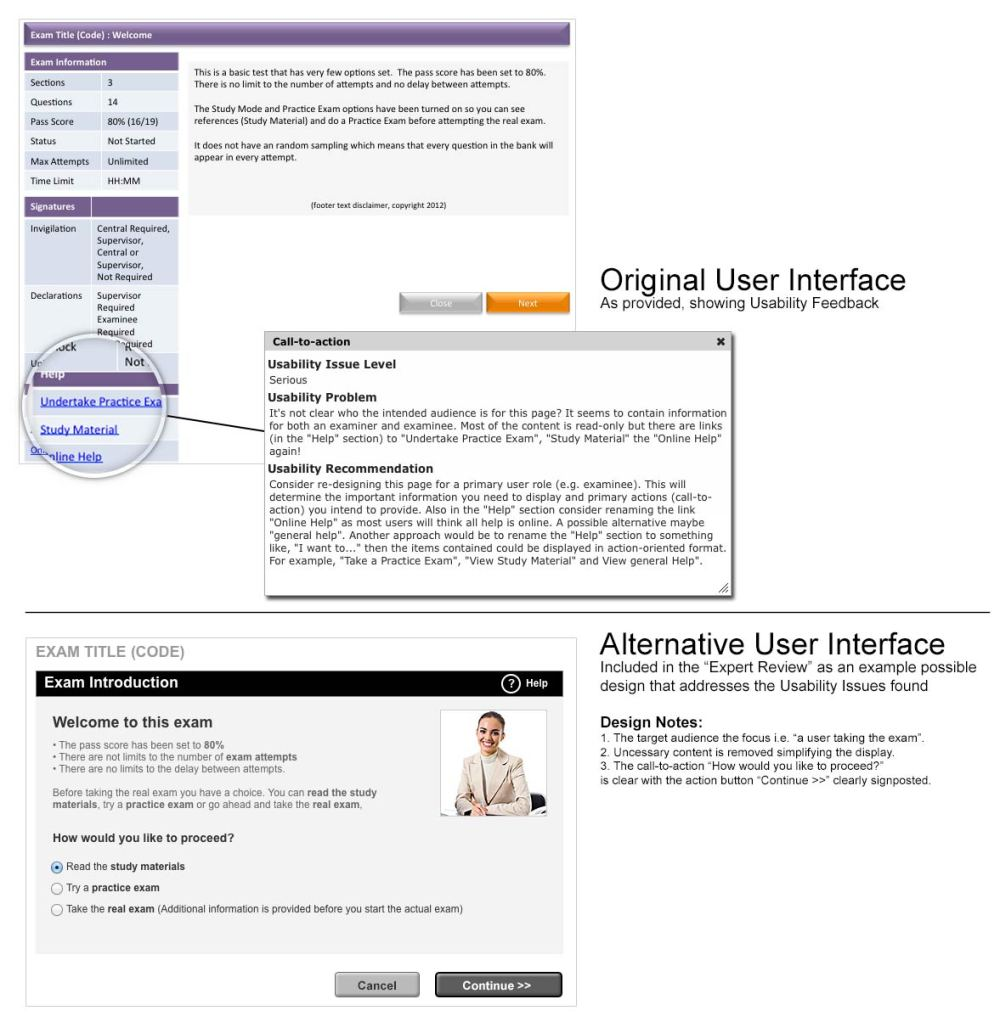 Usability Review Annotated Screenshot 01