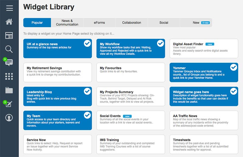 intranet-widget-library