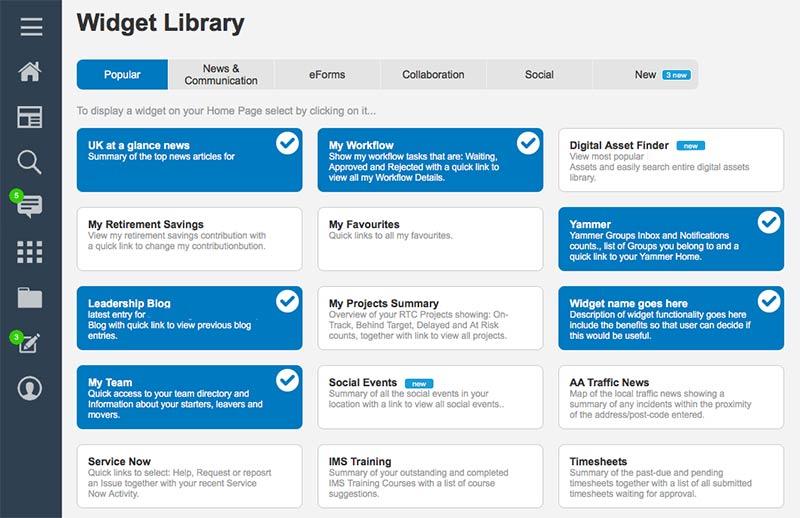 intranet-widget-library